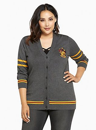 1a89871afc2 Plus Size Harry Potter Gryffindor Cardigan