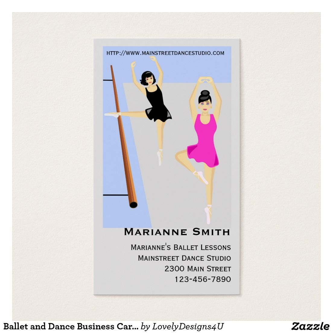 Ballet and Dance Business Cards | Zazzle | Pinterest | Business ...