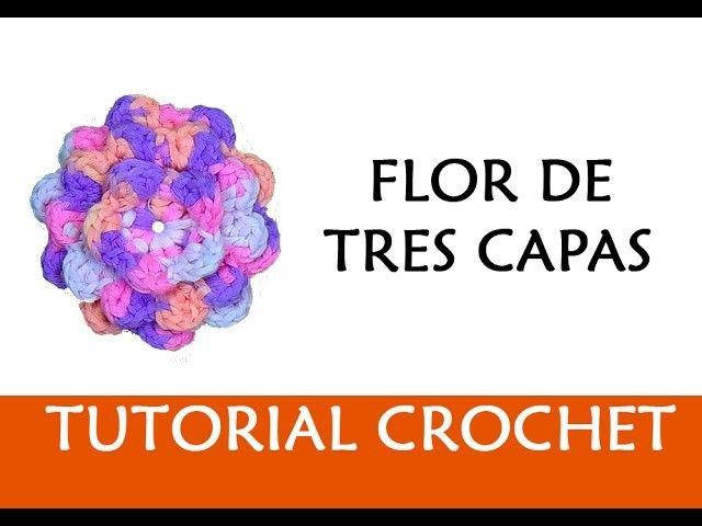 PATRÓN CROCHET: FLOR DE TRES CAPAS | Craft