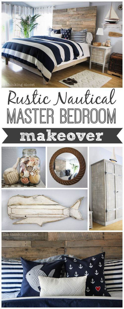Photo of Nautical Master Bedroom Makeover & How We Found Our Shared Style – the thinking closet
