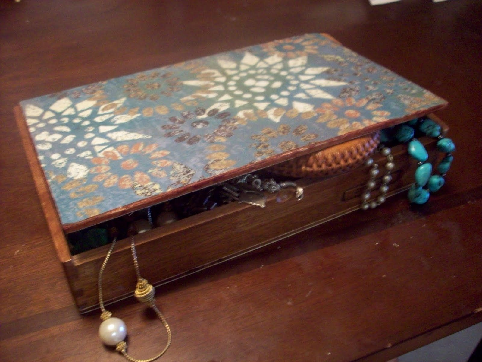 Mod Podge Jewelry Box Mod Podge Cigar Box Cute diy products