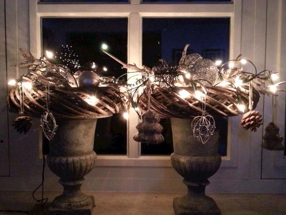 Voor Het Raam Kerst Decoratie Landelijke Kerstversiering
