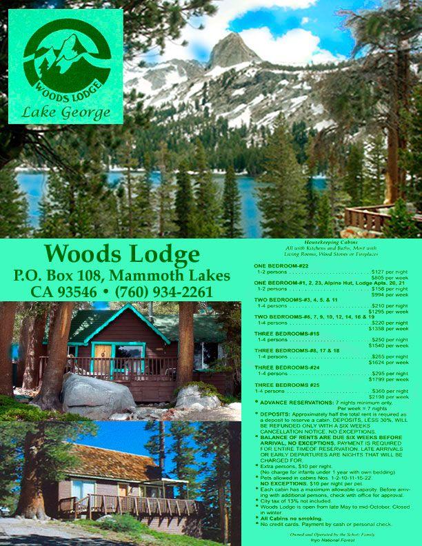 Woods Lodge on Lake George Mammoth Lakes, California