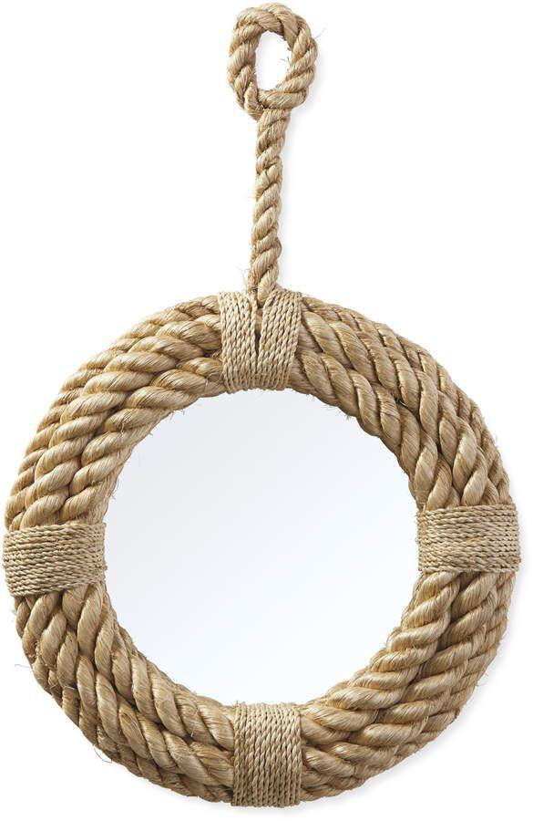 Serena Lily Nautical Rope Mirror Moderndecor Schelpenknutsels Touw Knutselen Decoratie Thuis