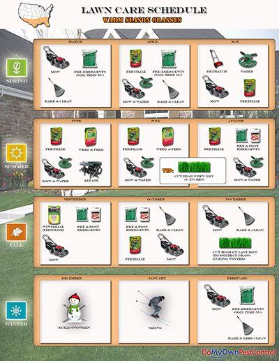 Lawn Care Schedule for Warm Season Grasses