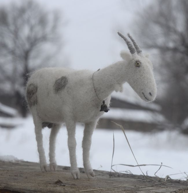 Needle Felted Goat Toy By Victor Dubrovsky Goats