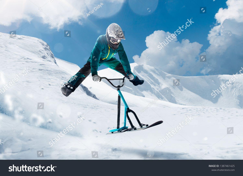 Snow Scoot Snow Bike Extreme Winter Sports Ad Ad Bike Scoot Snow Sports Snowbike Winter Sports Bike