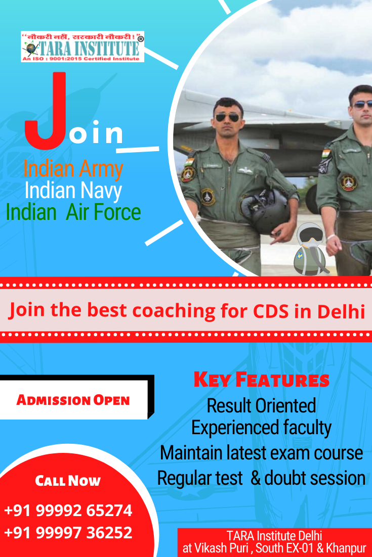 Join the best ever institute for CDS Coaching in Delhi. We