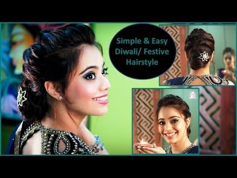 The 2 Minute Pineapple Updo Very Easy Hairstyles Easy Hairstyles Diwali Festival