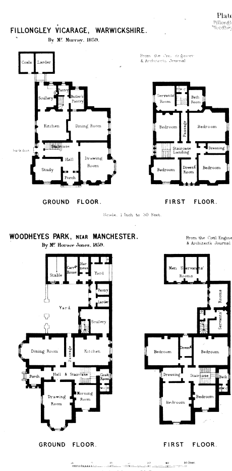 English Kitchens Sculleries Larders And Pastry Rooms Circa 1865 Country House Floor Plan Victorian House Plans English Country House Plans