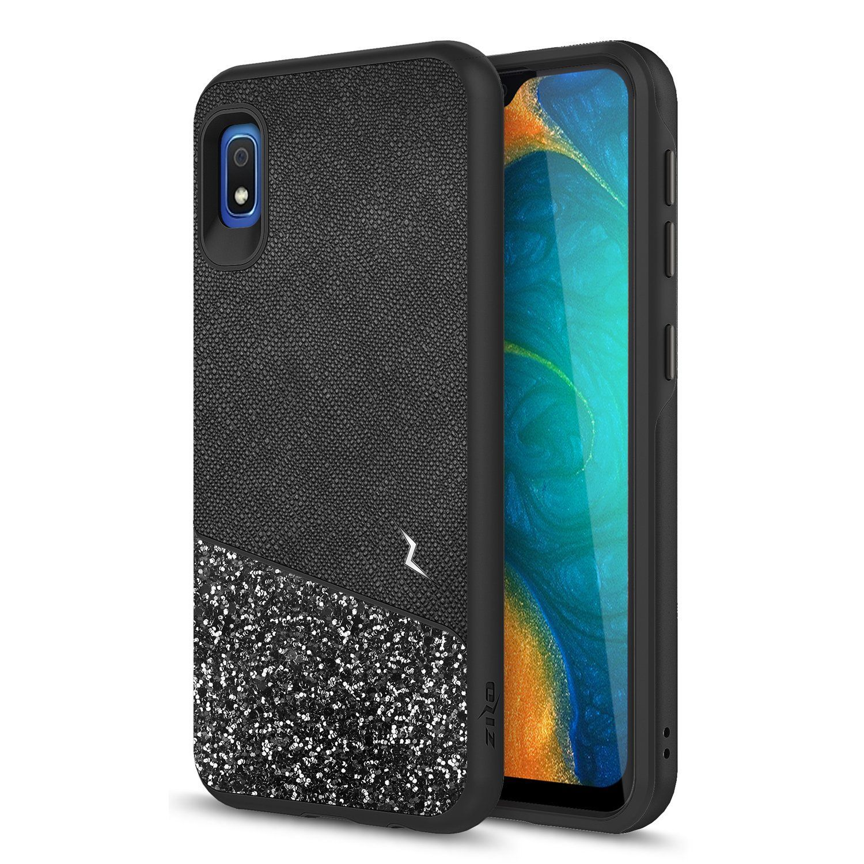 Samsung Galaxy A10e Zizo Stellar Series Dual Layered Case With Glitter Design Black In 2020 Samsung Galaxy Stellar Samsung