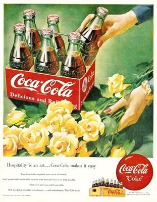 1950 - Coca-Cola makes hospitality easy!