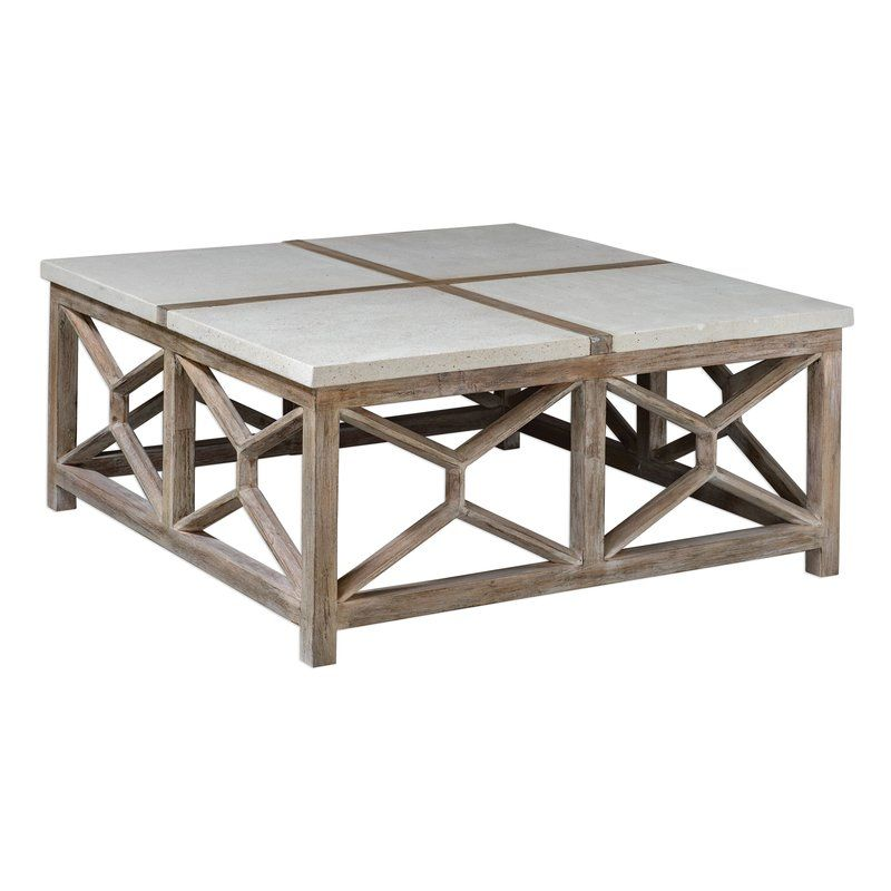 Butcher Catali Stone Coffee Table Coffee Table Square Geometric