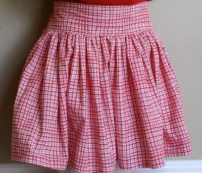 Love this tutorial for toddler skirts.