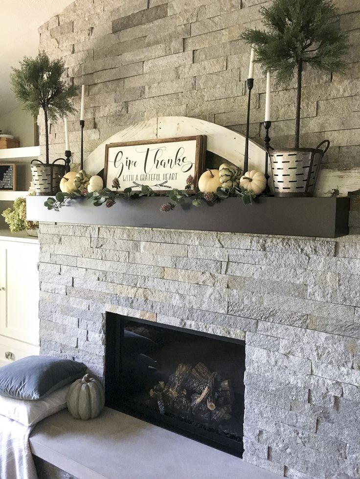 Fall Home Decor Ideas Living rooms, House and Mantle
