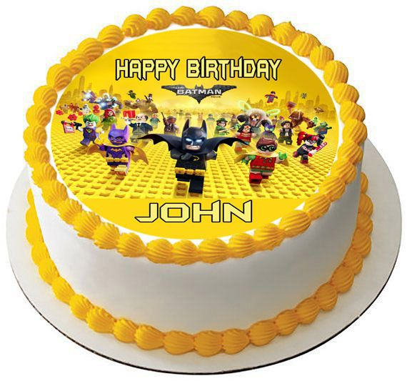 The lego batman movie Edible Birthday Cake Topper OR Cupcake Topper