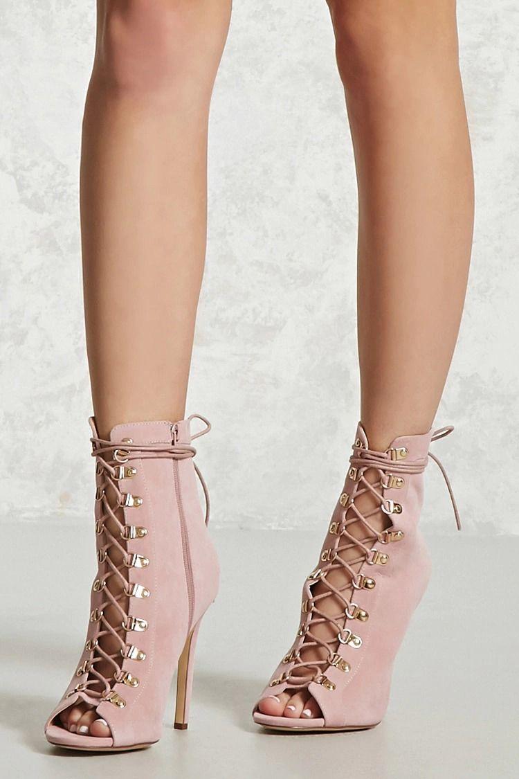 Women Artificial Suede Square Heels Cross-tied Fringe Zipper Mid-calf Booties