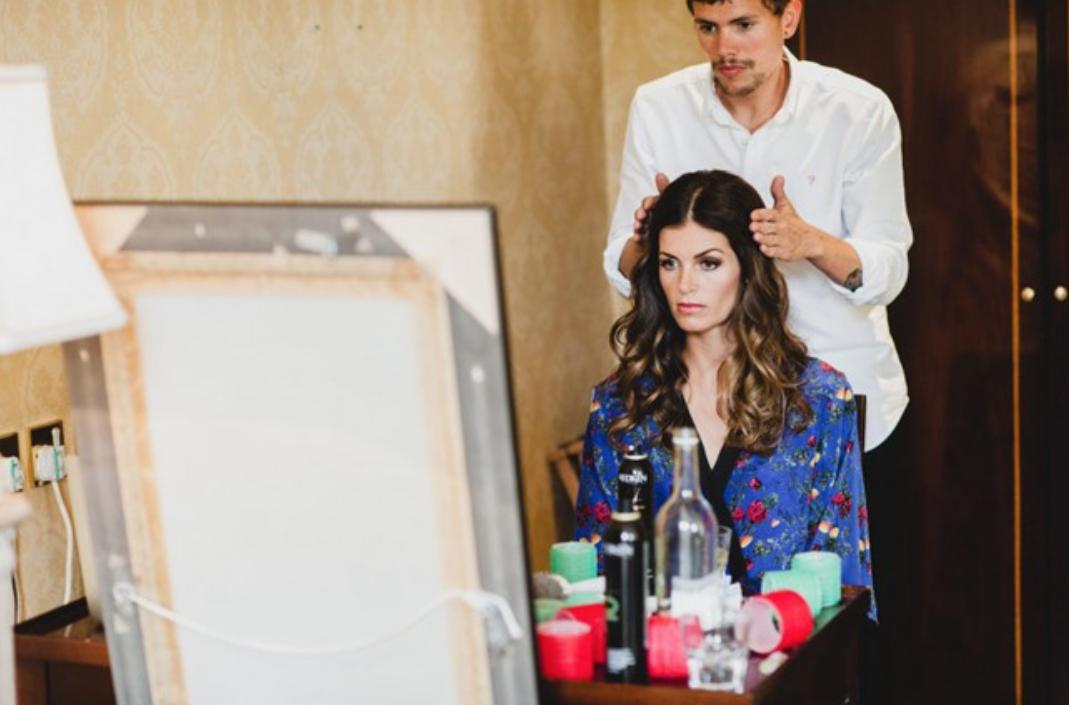 Hermione de Paula   Wedding Robe   #bigday #hairstyling #weddingrobe #hermionedepaula #hdpbridal
