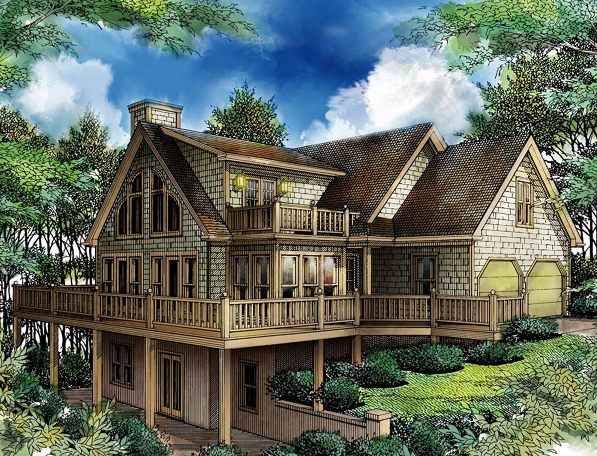 Plan 26620GG: Bring the Outdoors In | Bonus rooms, Porch and Lofts