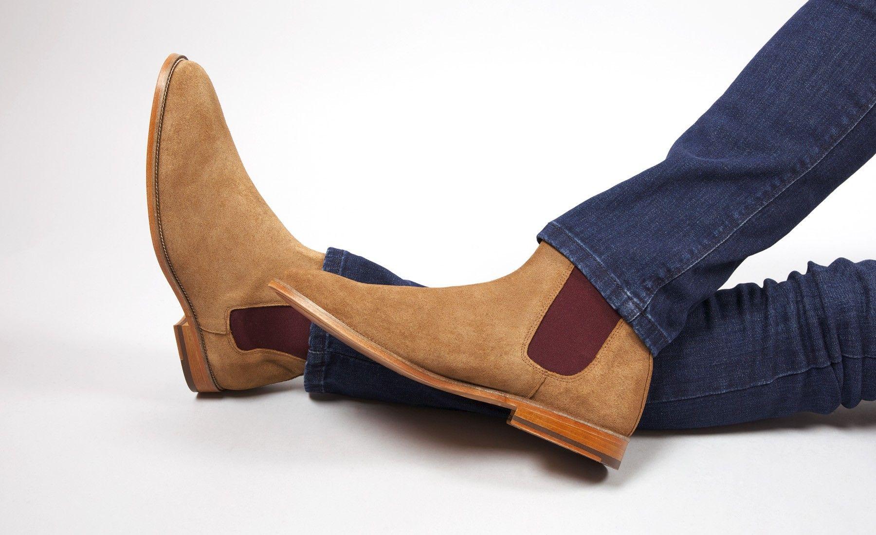 e9d0b3a4140e Chelsea boots savane   bordeaux - L Horloger - Bobbies