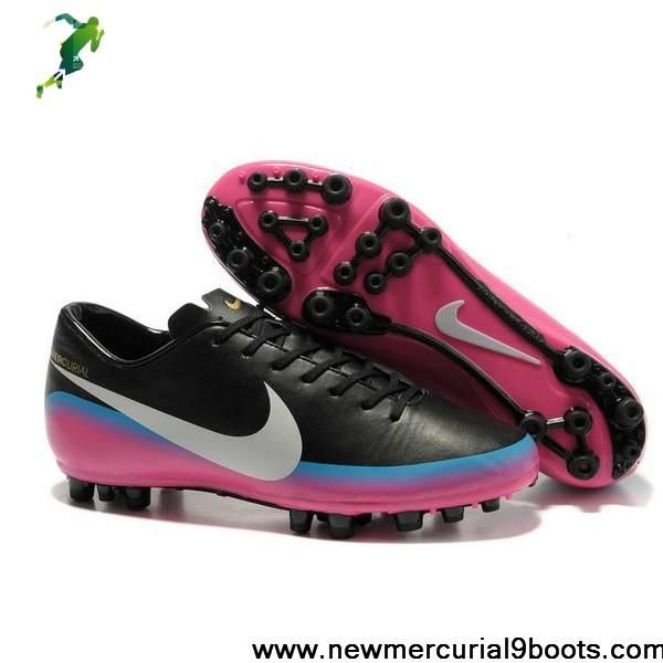 timeless design ad53d e9710 Best Gift Nike Mercurial Victory III AG CR7 Black Pink White Football Boots  On Sale