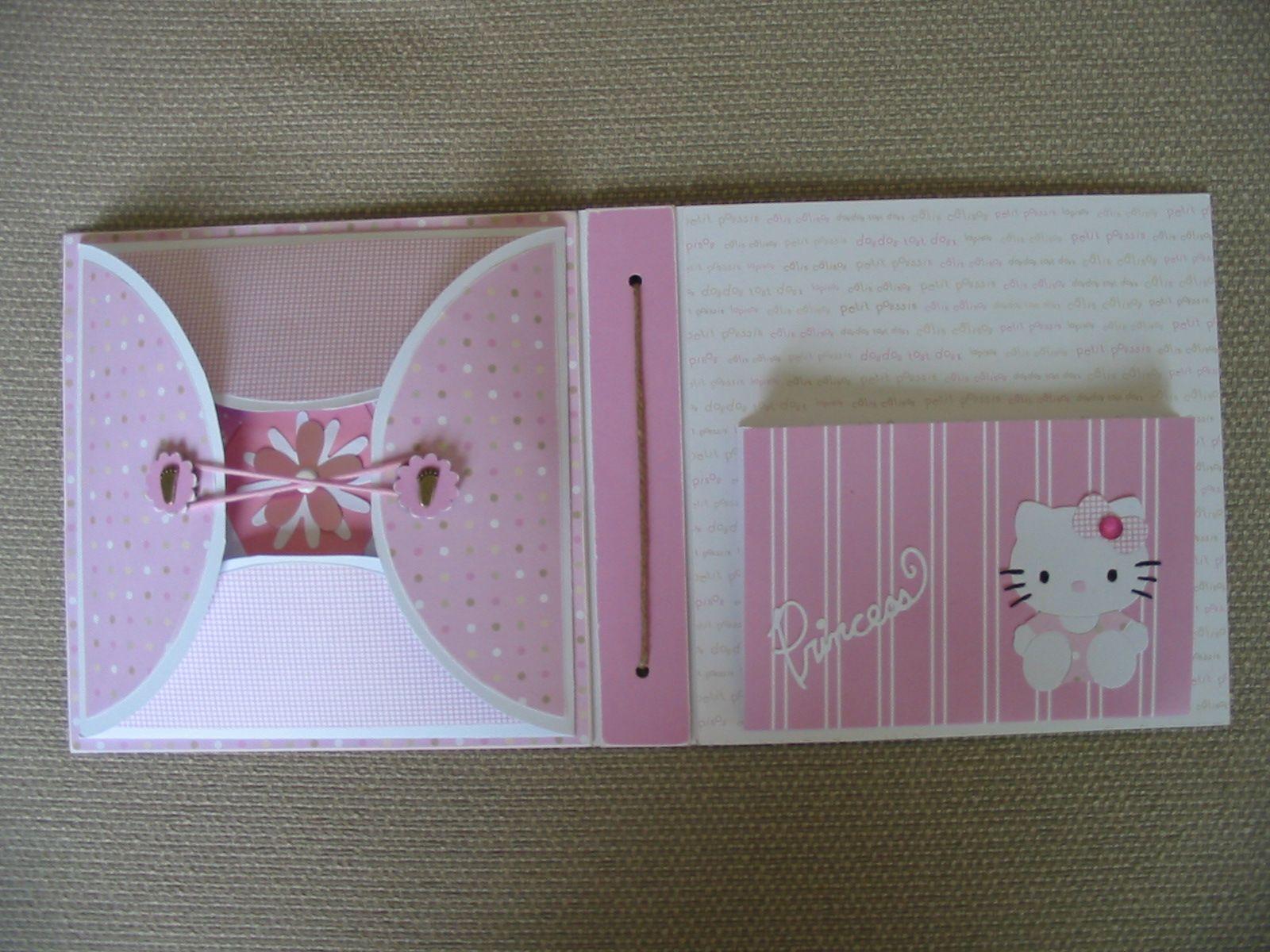hello kitty scarupbook   Caro fan de scrap: album de naissance Hello kitty