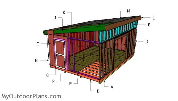 14x20 Lean To Shed Plans Myoutdoorplans Free Woodworking Plans And Projects Diy Shed Wooden Playhouse Pergola B Lean To Shed Plans Shed Plans Roof Plan