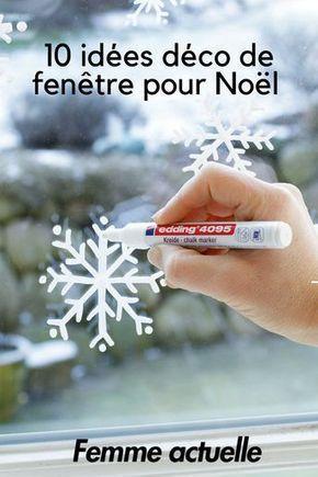 Zu Weihnachten schmücken wir ihre Fenster mit hübschen Mustern, nur mit einem Filz ... #noel2019