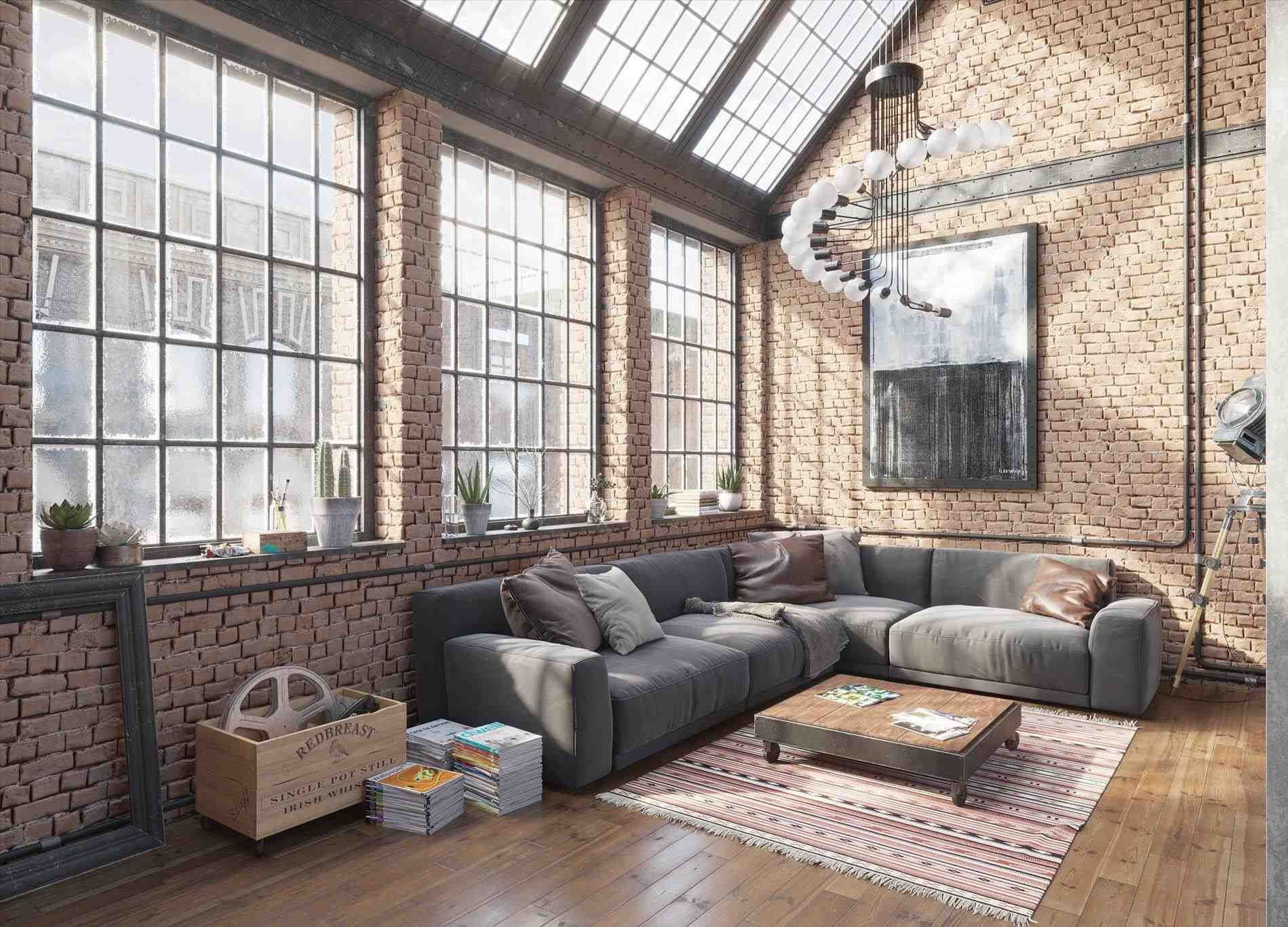 Image Result For Warm Industrial Living Room