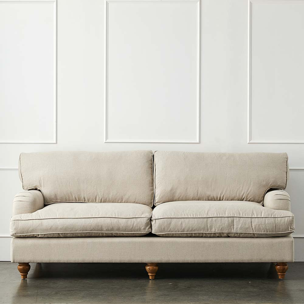 Camille Linen Sofa Sofas All Seating Furniture