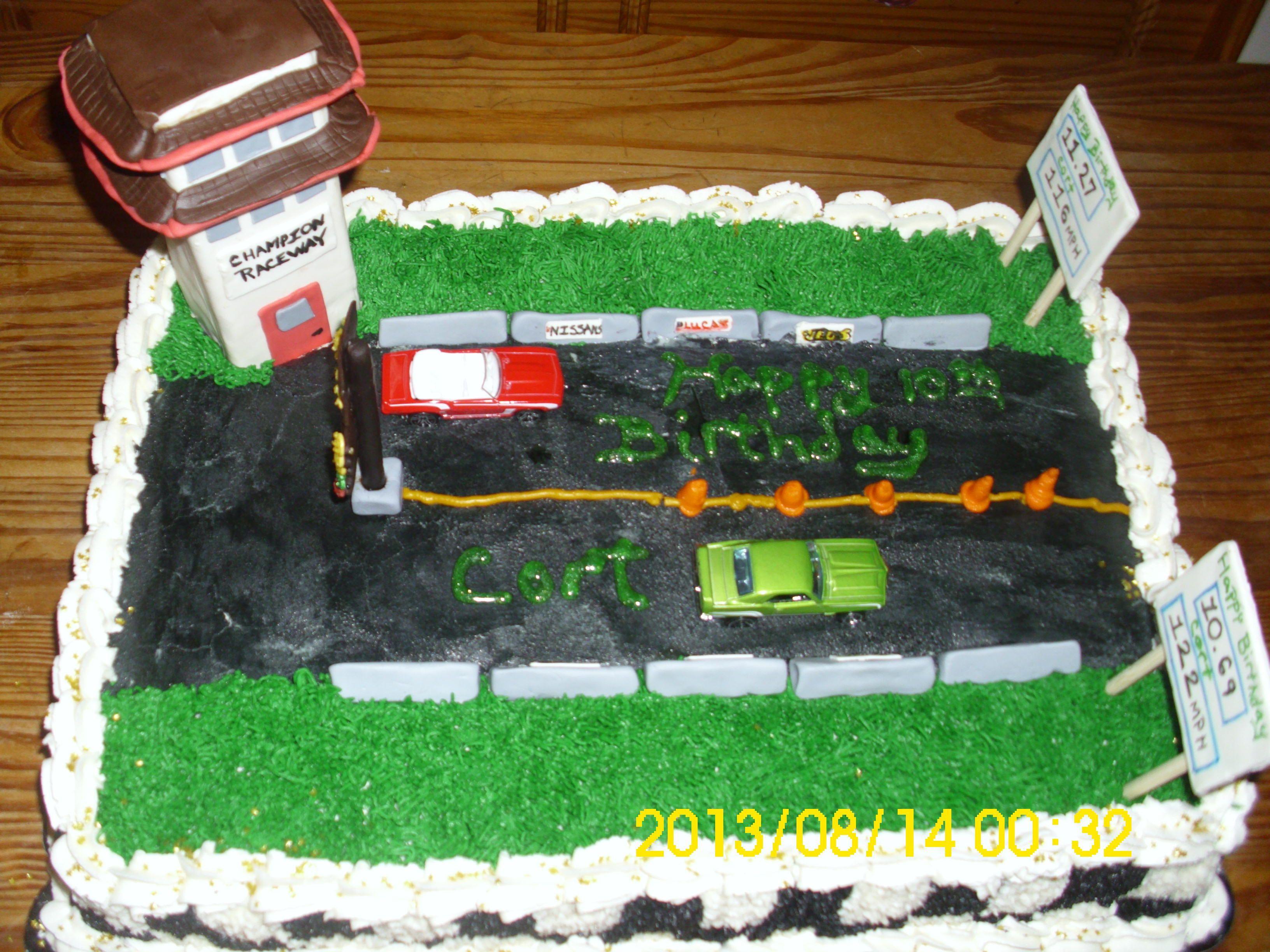 Drag Strip Cake