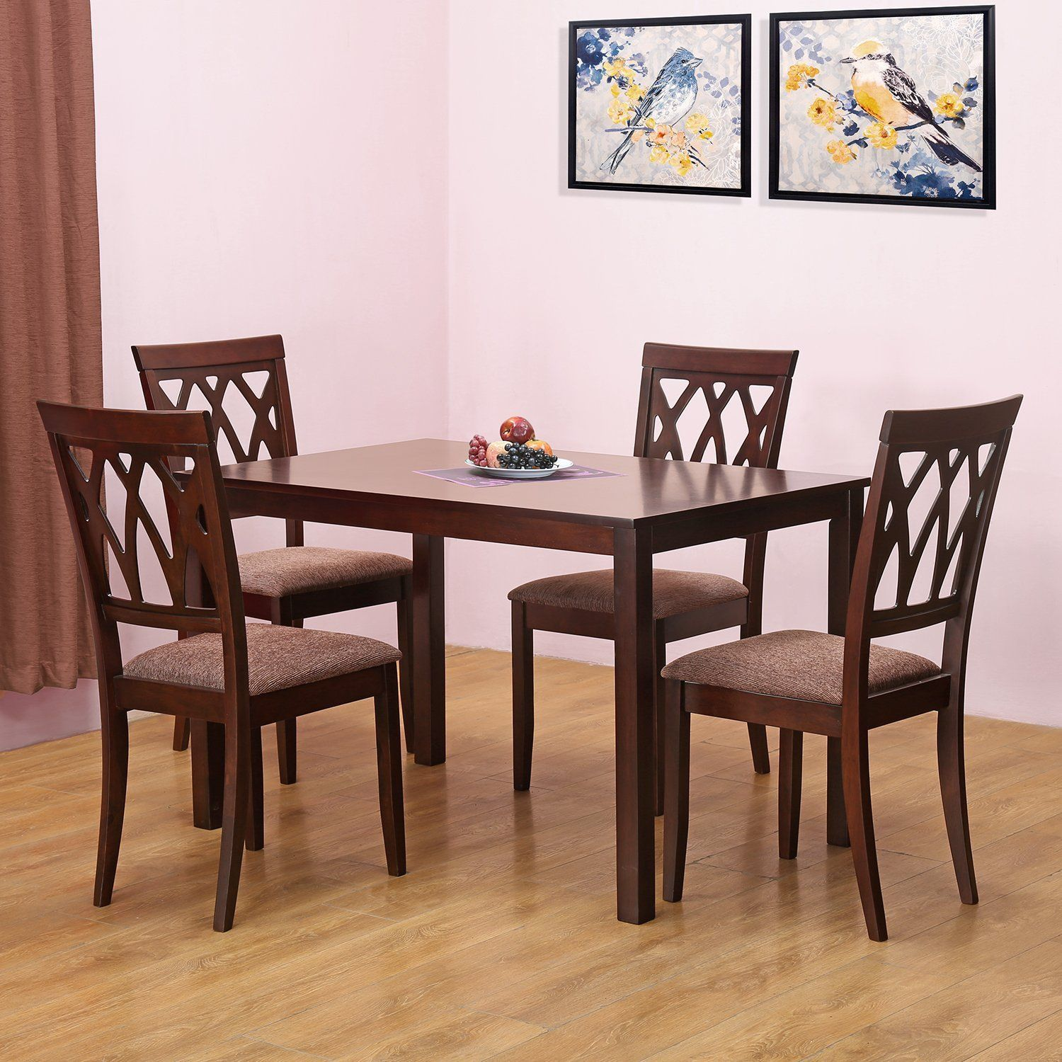 Home By Nilkamal Peak Four Seater Dining Table Set Beige Best Home And Kitchen Store 4 Seater Dining Table Four Seater Dining Table Dining Room Sets