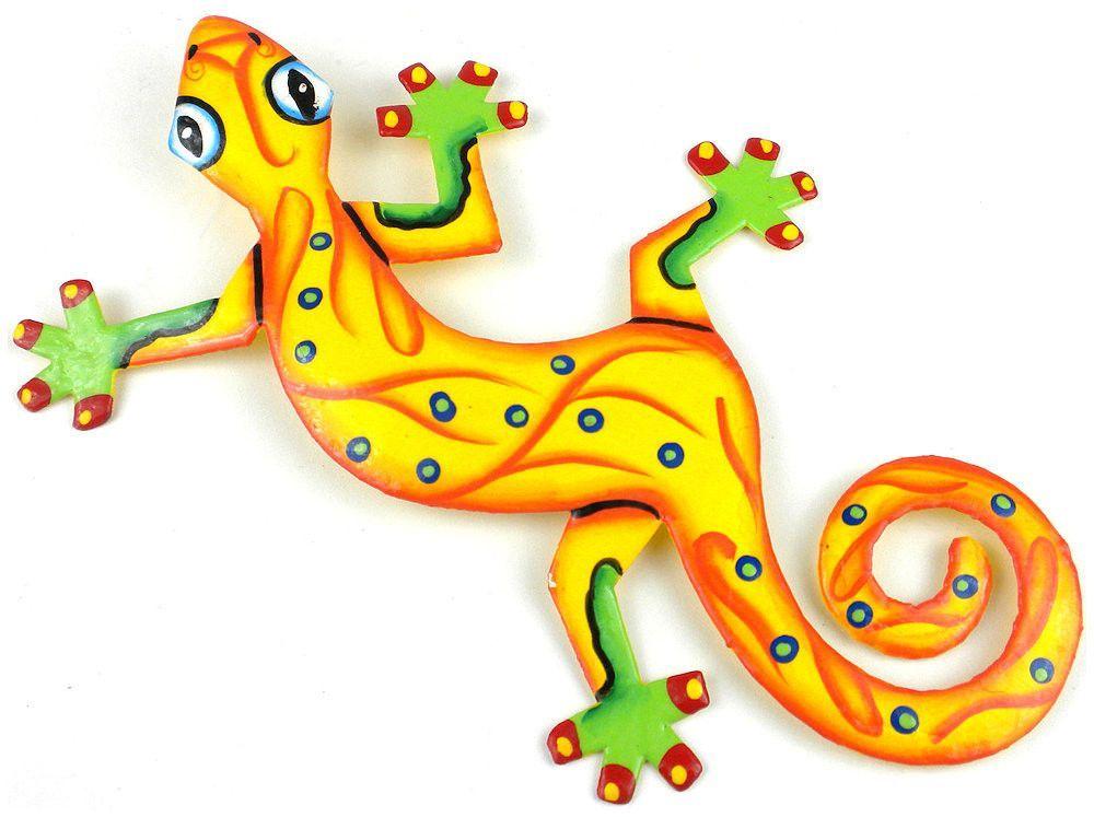 Hand Painted Sunshine Yellow Gecko 8\