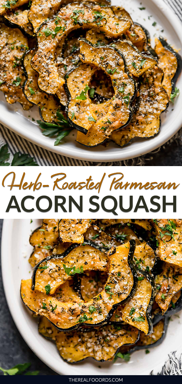 Herb Roasted Parmesan Acorn Squash Recipe Acorn Squash Vegan