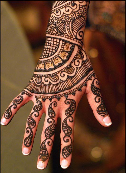 Henna Drawings On Hand