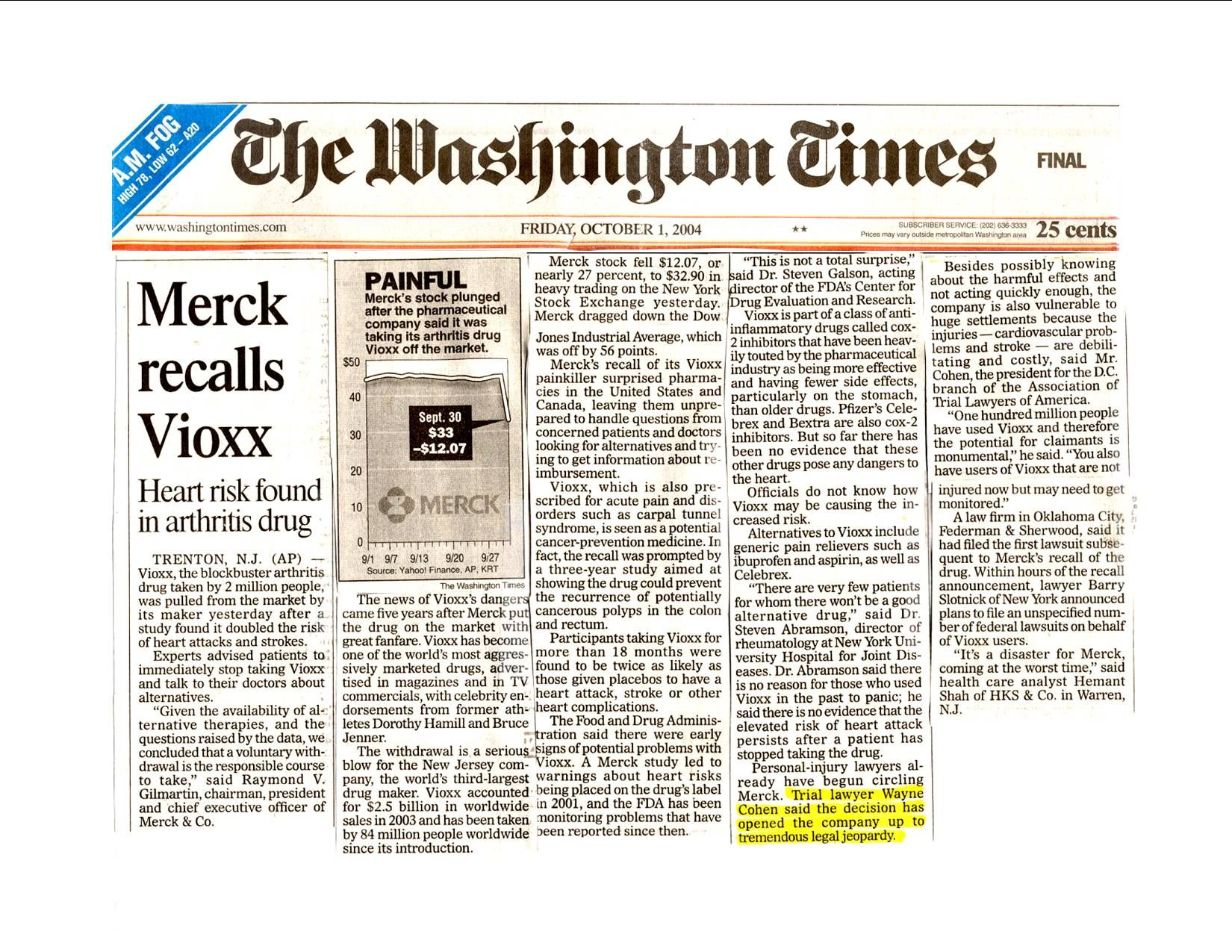 vioxx and merck co essay Product liability lawsuits: merck & co, inc overview liability lawsuit refers to a case against the manufactures of a particular product as a result of injuries sustain due to the products use such products are defined as defective and are thus considered unsafe for use ordinarily, products are put up in the market with the intention of attracting new and existing buyers to use them.