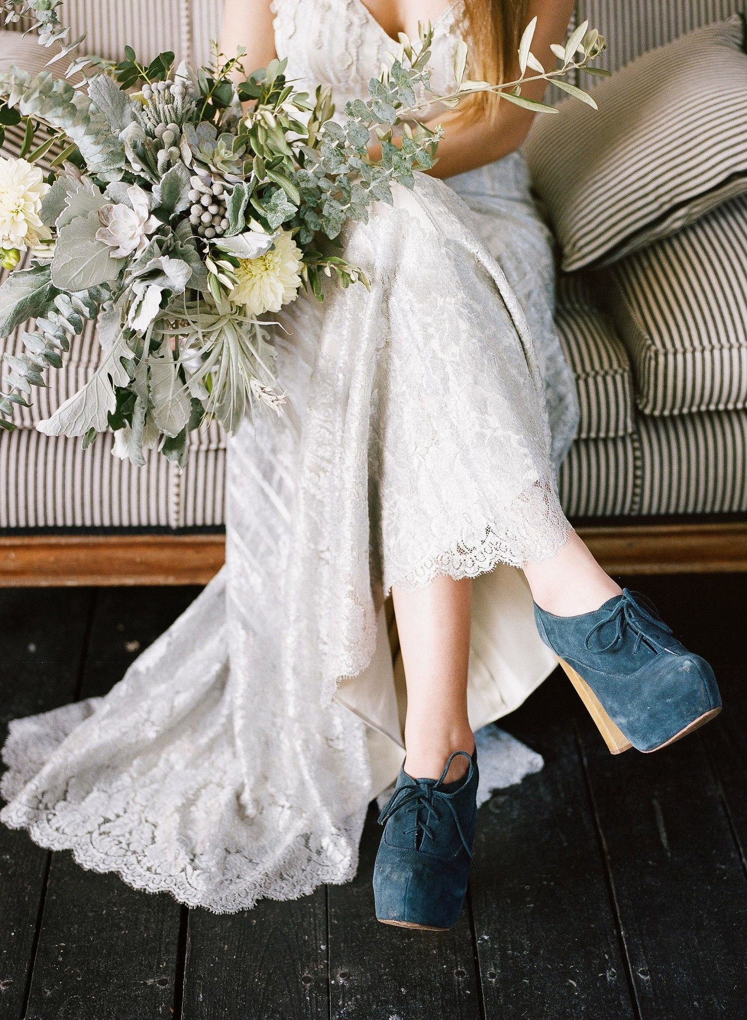 nontraditional wedding shoe ideas from stylish brides in