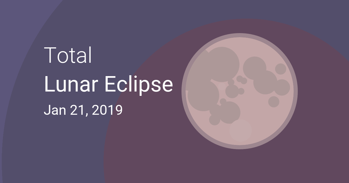 Total Lunar Eclipse On January 20 21 2019 Where And When Is The