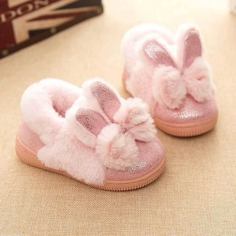Cotton Slippers With Winter Warm Non