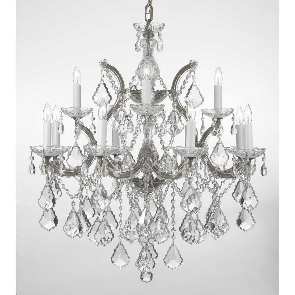 Charles Serouya Son Maria Theresa 13 Light Silver Crystal