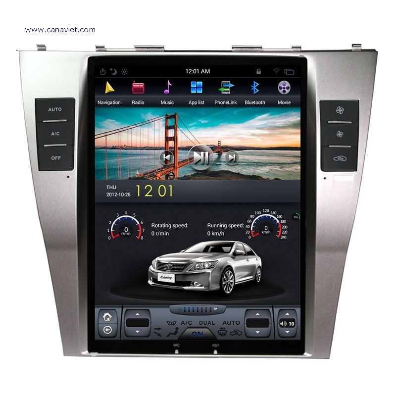 Tesla Style Vertical Screen Sat Nav Android Autoradio Car