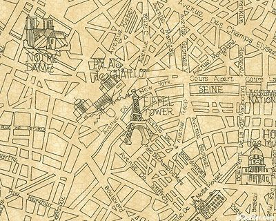 Vintage Paris Map Fabric Fiesta Pinterest Paris Map Vintage - Paris map fabric