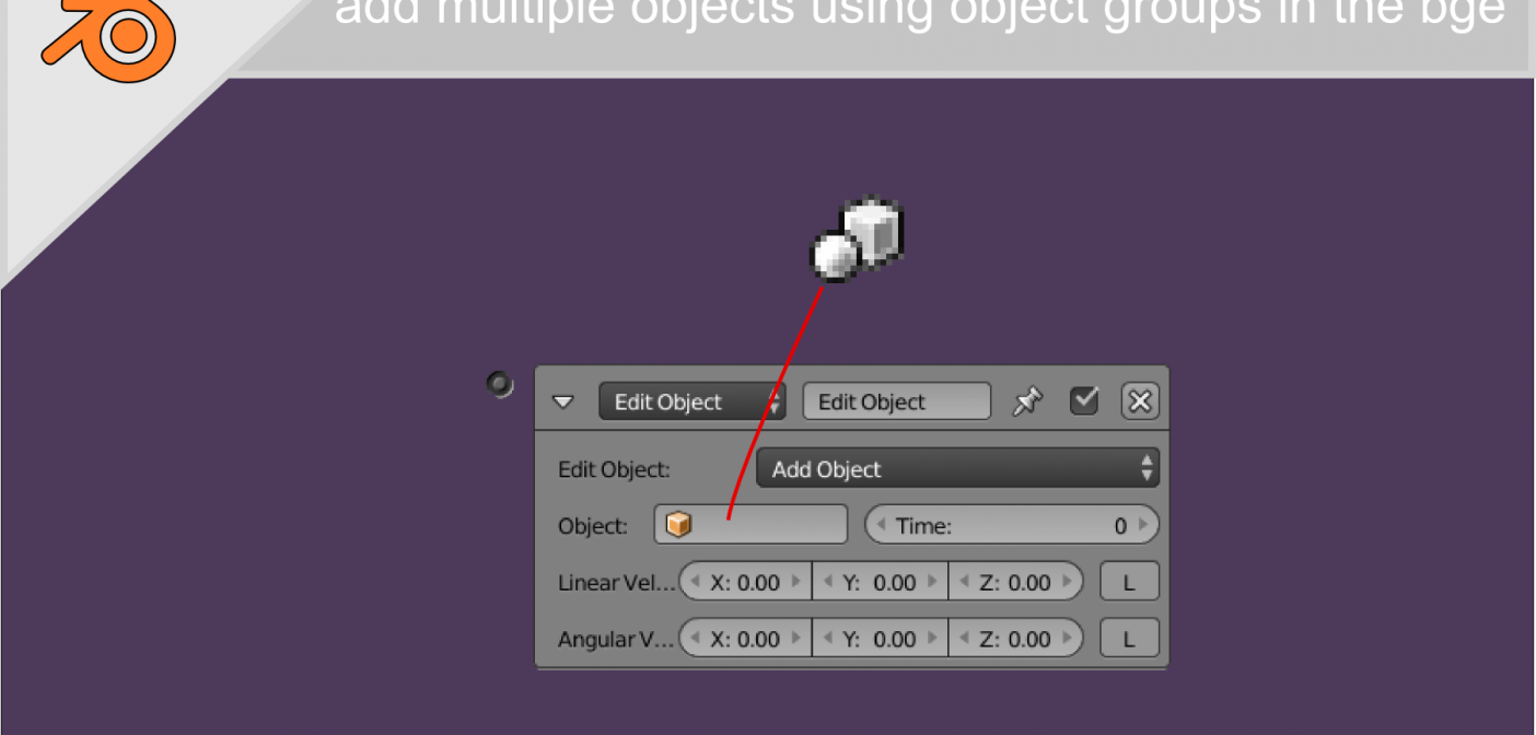 Add multiple objects using object groups in the bge