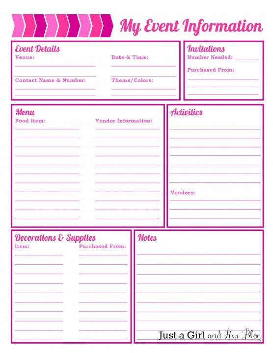 Party Planning Worksheet. party planning worksheet budget ...
