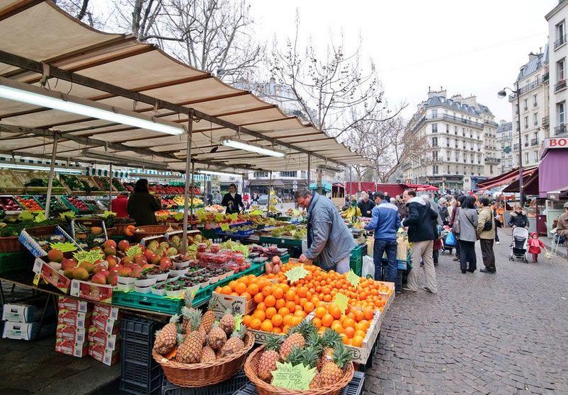Rue Mouffetard Market  Paris France  au march  Pinterest