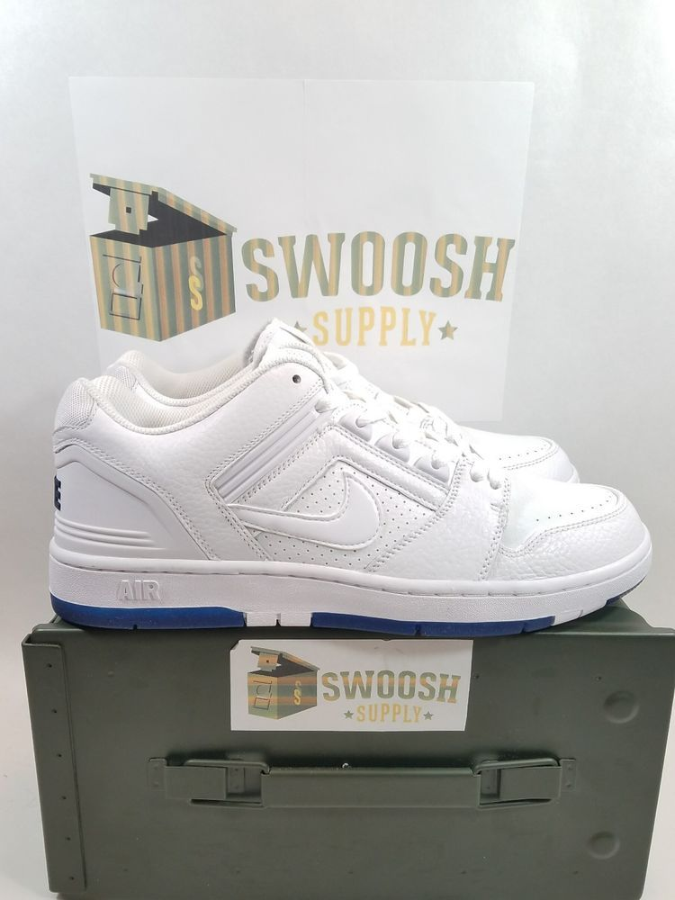 Nike SB Air Force II 2 Low Kevin Bradley White Blue Void White AO0298-114  in 2019  ee3523dc7