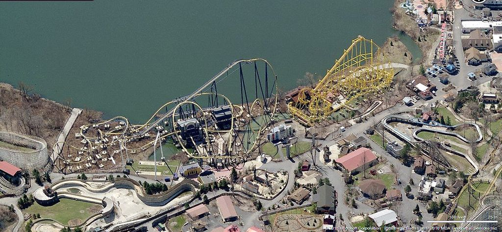 geauga lake aerial view from bing maps