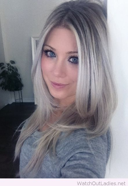 Lovely Ash Blonde Hair Color For Blue Eyes Ombre Hair Blonde