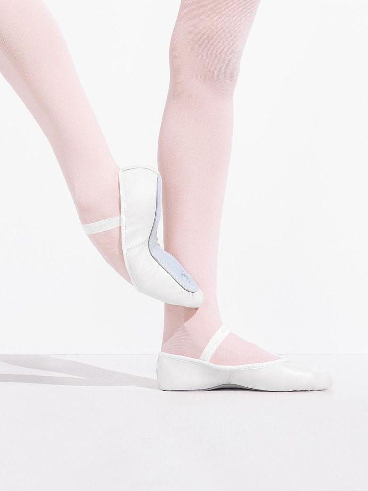 1b852c4053f8 NIB Capezio Daisy White Full-sole Leather Ballet Slipper- Children ...