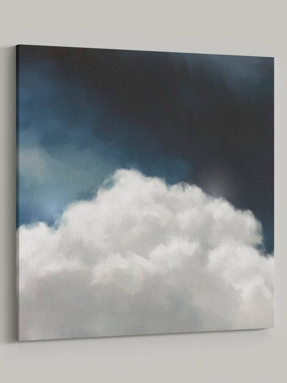 Photo of CANVAS Fine Art Print | 'Cumulus V' | Cloud Painting, Original abstract, Modern art, Cloud art, Landscape painting, Contemporary, trending